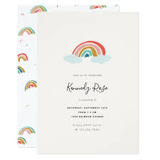 kids birthday party invitations rainbow kids birthday party invitation