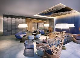 a seating area at mitsui garden hotel ginza gochome