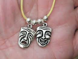 image is loading edy tragedy masks necklace thespian actors gifts theater