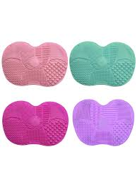 silicone makeup brush cleaning mat pad washing tool scrubber board with er share