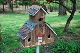 decorated birdhouses