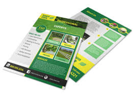 Sample Flyers For Landscaping Business Professional Lawn Care Commercial Flyer Template