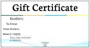 Microsoft Word Gift Certificate Templates Gift Certificate Template Free Download