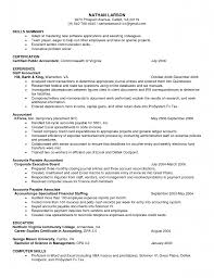 Resume Example Certifications