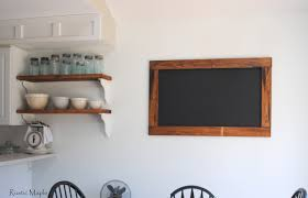 Kitchen Chalkboard With Shelf Rustic Maple Wood Chalkboard For Our Kitchen
