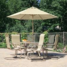 round patio dining table patio dining set with umbrella and cream cushion patio chairs and small round patio dining table