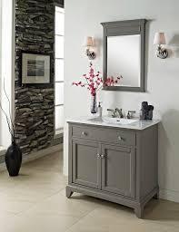 36 bathroom vanity grey. Fairmont Smithfield 36 Vanity Medium Gray Modern Bathroom With Regard To Decor 8 Grey R