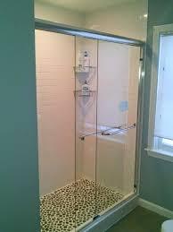 sunshiny basco infinity frameless bipass door along with chrome protective glass coating basco sliding infinity door