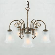 traditional chandelier glass polished brass led medan mlf240