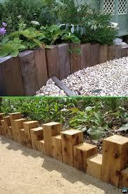 wood flower bed border google search garden edge ideas