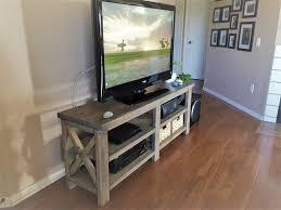 faux driftwood finish media console