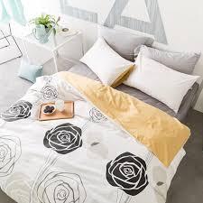 whole grace rose orange duvet cover set twin queen king size bedding sets 100 cotton duvet cover bed sheets pillow case 3 black and white bedding sets