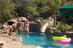 inground pools with waterslides. Plain With Water Slides Inside Inground Pools With Waterslides N