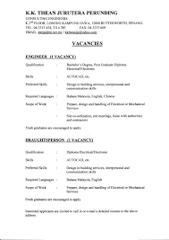 Resumes For Experienced Mechanical Engineers Fresh Resume Format