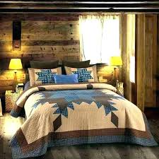 primitive bedspreads bedding sets quilts quilt blue and brown star set king size country charm navy