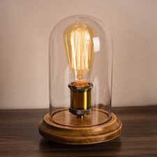 Details About Surpars House Vintage Desk Lamp Glass Shade Table Lamp Edison Bulb Included