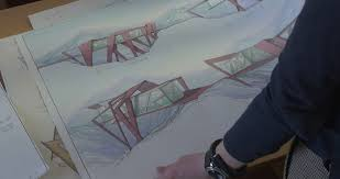 architectural hand drawings. Beautiful Hand Womanu0027s Hands Are Moving The Sheets Of Paper With Architectural Sketches  Drawings Designs Schematic Drawn On In Hand