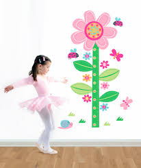 wall decal flower growth chart