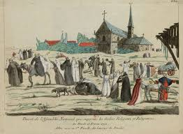 the french revolution and the catholic church history today in this caricature monks and nuns enjoy their new dom after the decree of 16