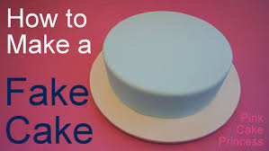 How To Make A Fake Cake Or Dummy Cake Covering A Styrofoam Dummy
