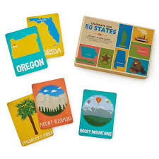 vocab cards with pictures 50 states vocab flashcards geography games uncommongoods