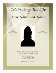 Memorial Card Template Funeral Program Funeral Program Templates Free Funeral Template