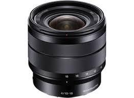 sony lenses. sony 10-18mm f/4 wide-angle zoom lens lenses