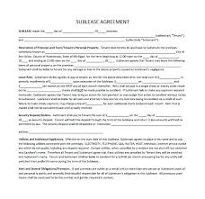 Sublease Agreement Samples Com Sublease Agreement Template Or Free Unique Sample California