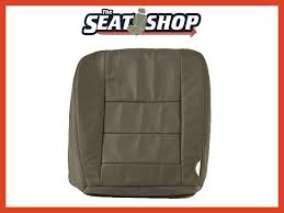 02 03 04 05 06 ford f250 350 med flint leather seat cover perforated lh