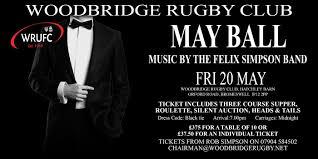 May Ball Fri 20 May - Woodbridge Rugby ClubWoodbridge Rugby Club