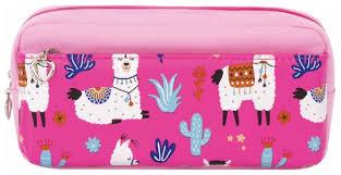 Купить <b>Юнландия Пенал</b>-косметичка <b>Ламы</b> (228980) розовый по ...