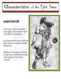 Beowulf Characteristics Of An Epic Hero Chart The Characteristics Of An Epic Hero Beowulf The Odyssey