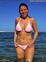 Amateur sheer bikini