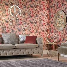 browse our large selection of fl wallpaper options from delicate blossoms to roses in a wide range of colors from soft pinks to elegant metallics