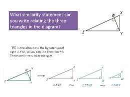 7-4 Similarity in Right Triangles - ppt download