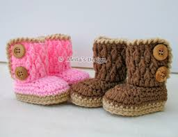 Crochet Baby Booties Pattern 3 6 Months Adorable Crochet Pattern 48 TwoButton Baby By AlenasDesign On Zibbet