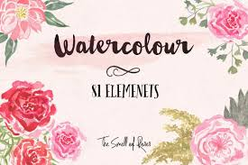a set of 81 super useful hand drawn watercolor flower brushes png images it took me ages to draw these brushes so hope you like them
