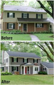 Home Exterior Makeover Before And After Ideas Exterior - Split level exterior remodel