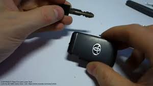 Car remote key dead and need to open door. What to do next Toyota ...
