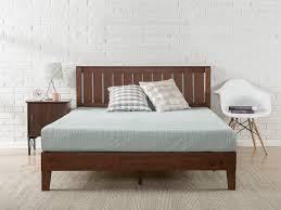 Bedroom Oak Platform Bed Frame Solid Wood Twin Platform Bed With ...