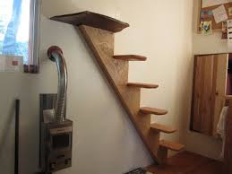 Skinny stairs. Oakland Tiny House