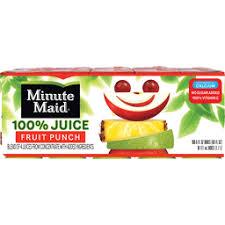 minute maid fruit punch juice cartons 6 fl oz 10 pack