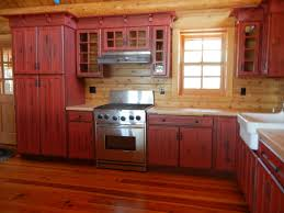 painting kitchen cabinets antique red
