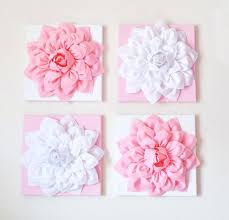 floral wall art decor nursery wall decor set of four light pink and white flower pink floral wall art flower metal wall art decor on floral wall art nursery with floral wall art decor nursery wall decor set of four light pink and