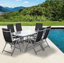 outdoor garden furniture set for outdoor activity table and chair nz metal frame dining black