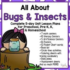 All About Bugs Insects 5 Day Lesson Plan For Preschool Prek K Homeschool
