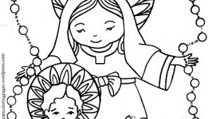 Small Picture Immaculate Heart of Mary and the Most Holy Rosary coloring page