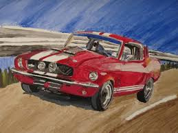 Ford Mustang Shelby GT500 1967 Acrylic Painting by nath2897 on ...