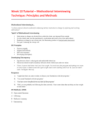Motivation Interview Questions Week 10 Tutorial Motivational Interviewing Technique Studocu