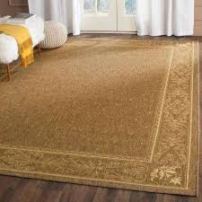 courtyard brown natural 9 ft x 12 ft indoor outdoor area rug